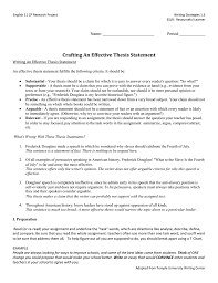 write a good thesis statement crafting an effective thesis statement