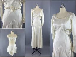 vintage 1930s wedding dress 30s bias cut dress 1920s art deco