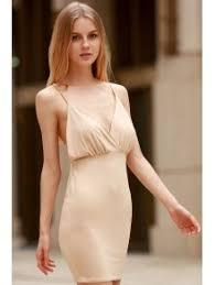 spaghetti dress women spaghetti backless club dress khaki club dresses xl