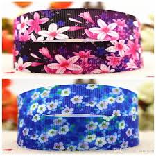 offray ribbon outlet 7 8 22mm 10 yards purple blue and wind floral silk ribbon hair