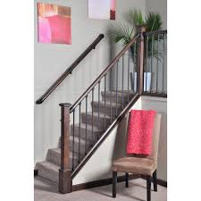 home depot stair railings interior stair simple axxys 8 ft stair rail kit stair railing walls and