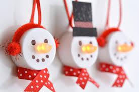light snowman ornaments