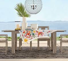 indio rectangular extending dining table pottery barn