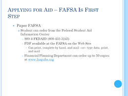 fafsa isir training free application for federal student aid ppt