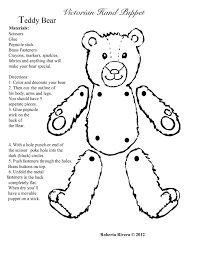 teddy bear puppet craft patterns patterns kid