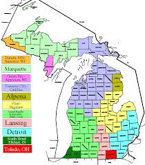Kalamazoo Michigan Map by Michigan Dma Map Michigan Map