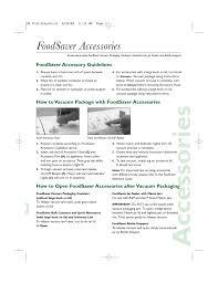 manual foodsaver gaccessories foodsaver accessories foodsaver accessory
