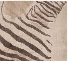 Taupe Zebra Rug Zebra Printed Rug Pottery Barn
