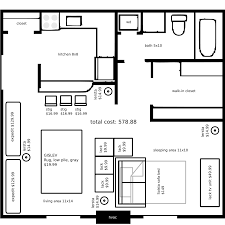 Floor Plans For Garage Conversions by U Shaped Kitchen Layout Layouts With Furniture Surprising Small