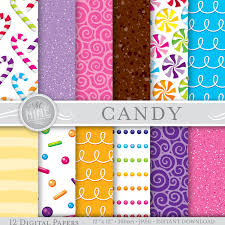 candy digital paper candy patterns printable candy prints