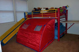 Bunk Bed With Slide And Tent Tent Bed With Slide Selv Me