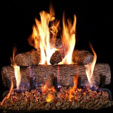 24 inch natural gas fireplace gas logs live oak log set with