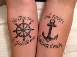 and anchor are framed meaningful text this arms tattoo idea