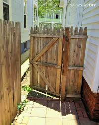 building a wooden fence gate