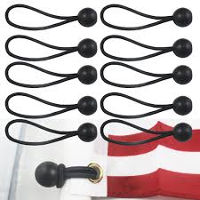 Flag Pole Express 10 Flag Pole Clip Ball Flag Bungee Ties To Attach Windsocks