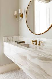 bathroom round mirror fall s bathroom trend round mirrors 24 east intended for mirror