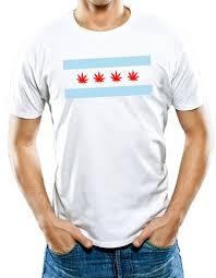 Chicago Flag Apparel Amazon Com Universal Apparel Men U0027s Chicago Weed Flag T Shirt
