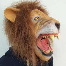 lion mask scary lion mask realistic animal mask with hair