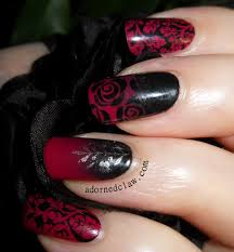 vampy valentine u0027s nail art the adorned claw