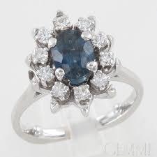 bague fianã aille bague or blanc diamant fleur white gold rings