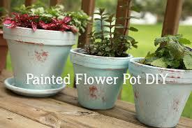 my distressed painted flower pot diy u2014 april bern
