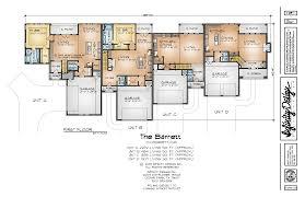 Fourplex Plans by Infinity Design The Barrett