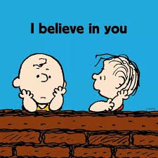 i believe in you and linus snoopy and peanuts