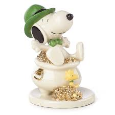 lucky leprechaun snoopy figurine a charlie brown christmas