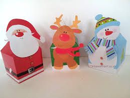 christmas boxes homestreet christmas character gift boxes snowman reindeer and