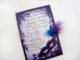 Quinceanera Invitation Cards Great Idea For A Masquerade Party Invite Description From