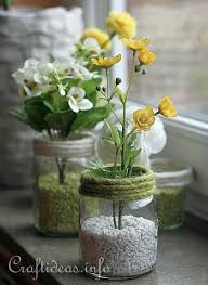 jar vases decorating idea for recycling craft jar flower vases