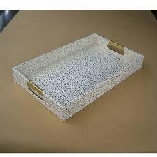 40x25cm rectangle leather serving storage decorative tray fruit