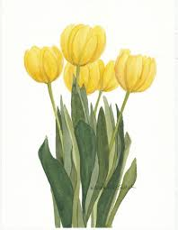 yellow flower tattoos 20 yellow tulip flowers tattoos ideas with meaning