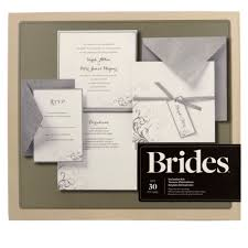 brides silver and white pocket invitation kit diy wedding