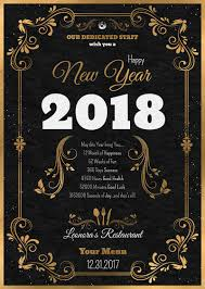 year menu template psd to customize with photoshop v1