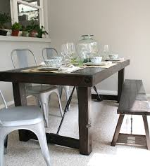 Industrial Kitchen Table Furniture Solid Western Red Cedar Dining Table Home Furniture Everettco