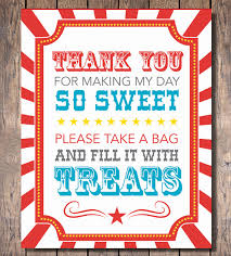 Baby Shower Candy Buffet Sign by Carnival Party Candy Buffet Sign Instant Download