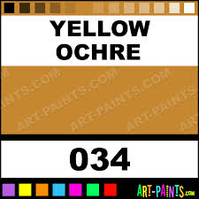Yellow Swatches Yellow Ochre Museum Watercolor Paints 034 Yellow Ochre Paint