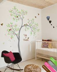 Personalized Nursery Wall Decals Personalized Nursery Wall Decal Sparrows Sticker Mural Decor Kr066