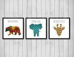 Prints For Kids Rooms by Inspirational Wall Art Animal Decals Bearprint Animals Decor