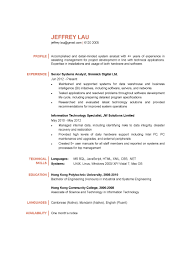 information technology professional resume systems analyst cv ctgoodjobs powered by career times
