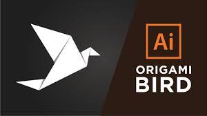 Origami Illustrator - how to make a origami bird in adobe illustrator cc 2015 2017