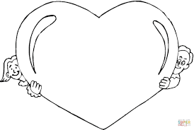 kids valentine u0027s day coloring page free printable coloring pages