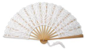 lace fan white lace fan large battenberg lace wedding fans