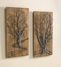 wall designs metal and wood wall metal tree on wooden