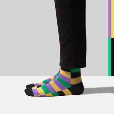 mardi gras socks women s trouser socks sheec s trousox classic multi block