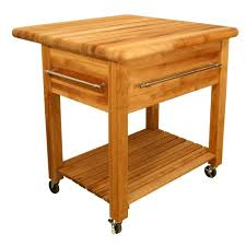 catskill craftsmen grand natural kitchen cart with drop leaf and