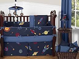 Rocket Ship Crib Bedding Sweet Jojo Designs 9 Space Galaxy Rocket Ship