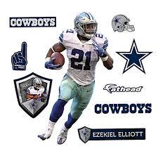 cowboys thanksgiving jerseys ezekiel elliot dallas cowboys junior size wall decal by fathead 1