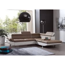 canap taupe canapé d angle convertible design taupe et blanc tom achat vente